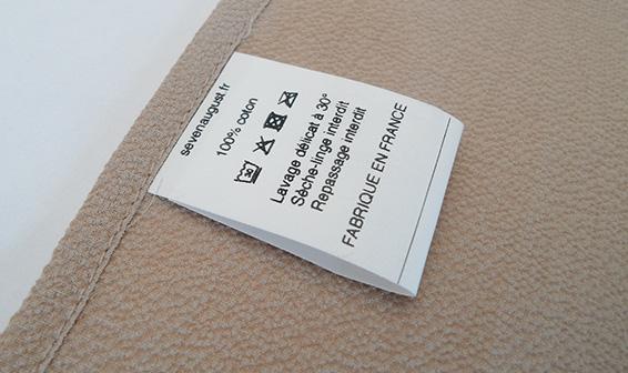 Étiquette textiles de composition