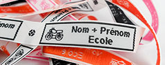 Étiquettes vêtements avec nom prénom